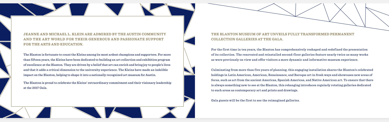 Invitation Design for Austin Art Museum