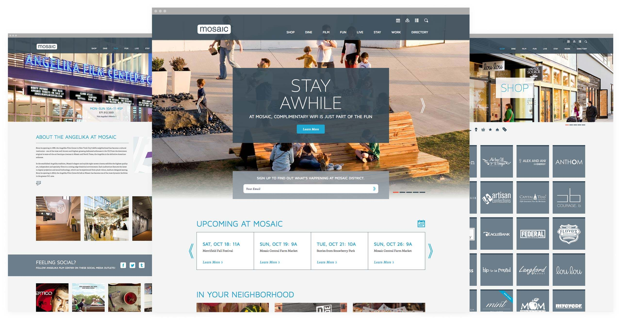Website Design for Mosaic District