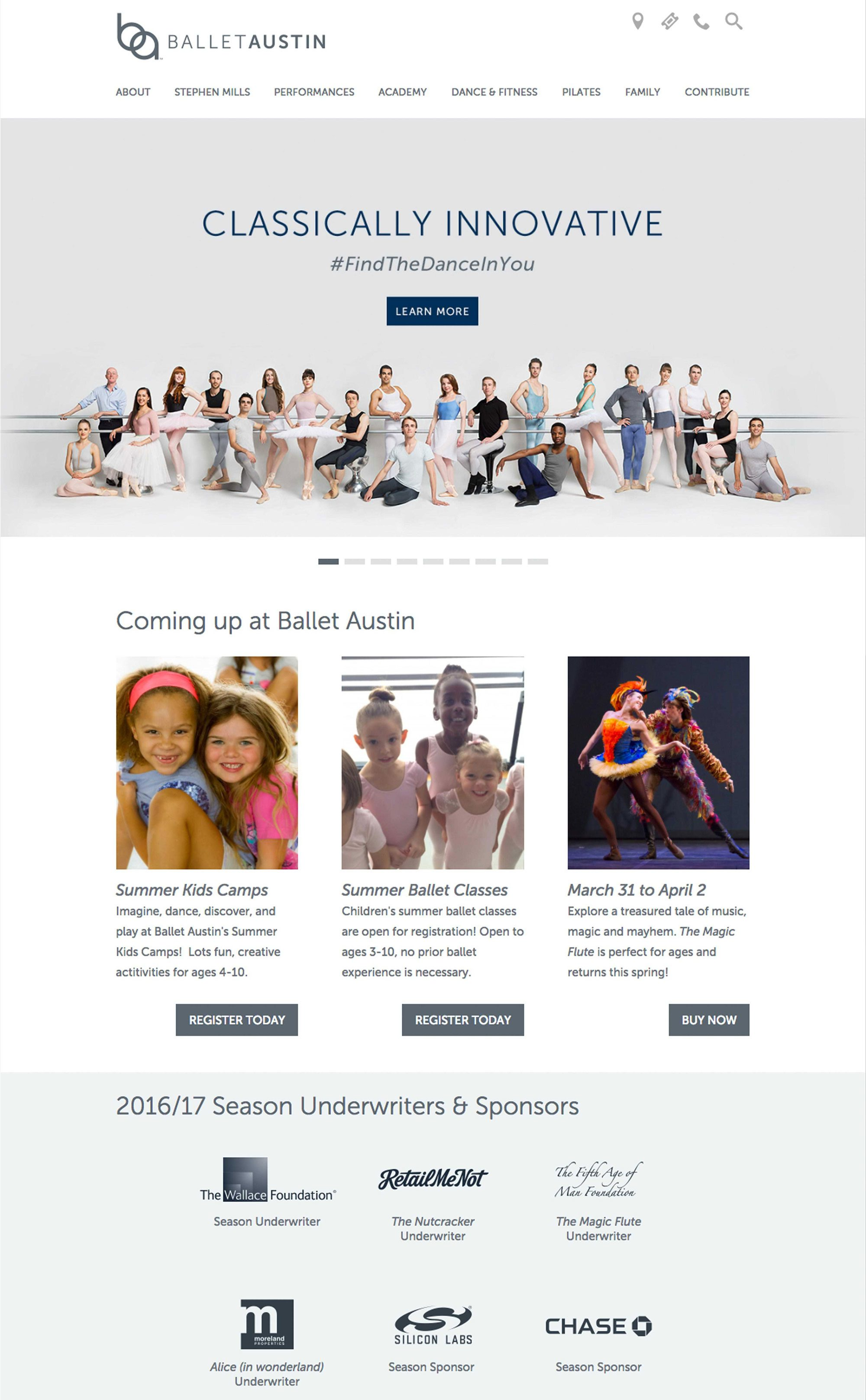 Website Design for Ballet Company
