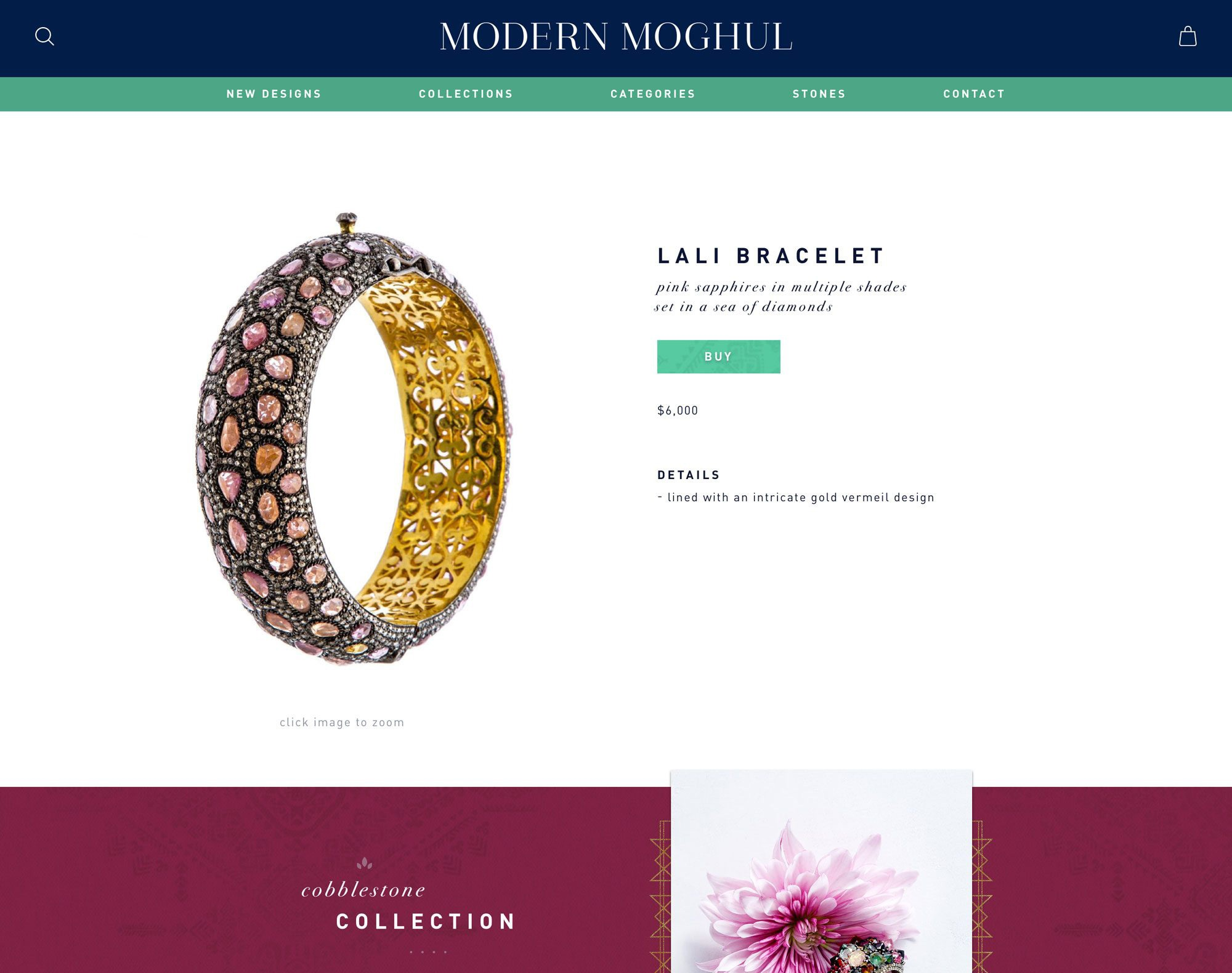 E-Commerce Web Design for Jewelry Company