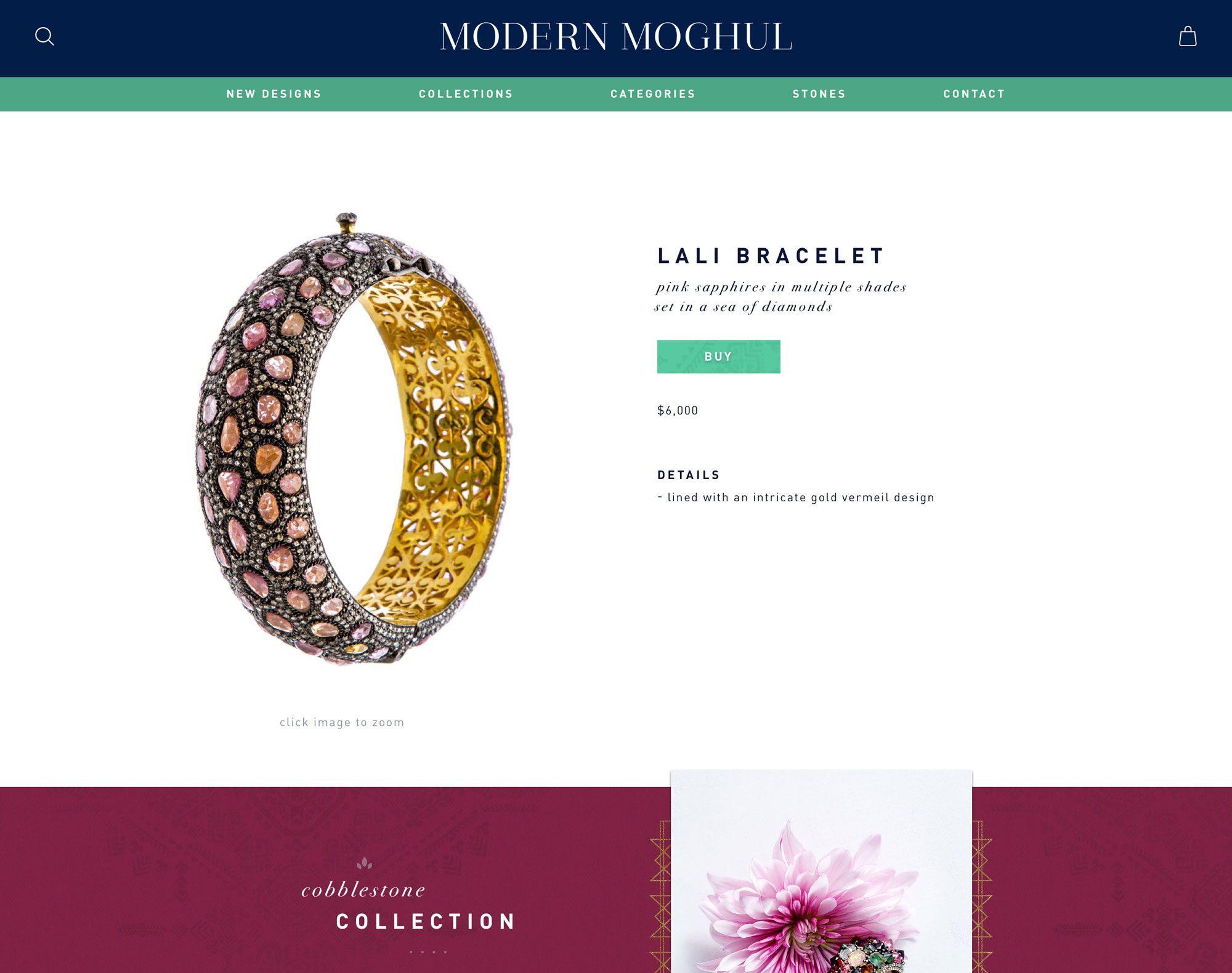 E-Commerce Web Design for Jewelry Company