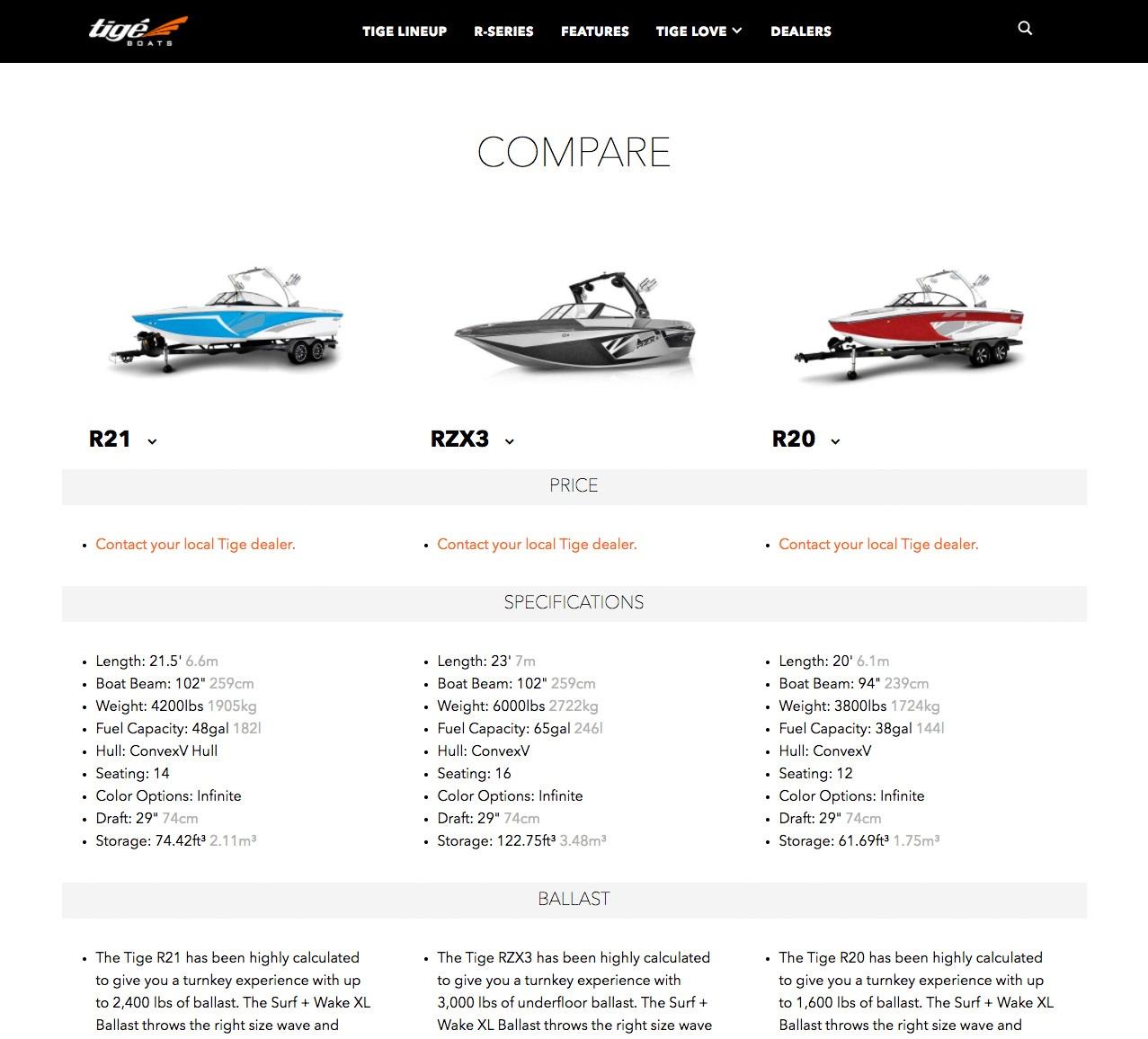 Interactive Web Design for Tige
