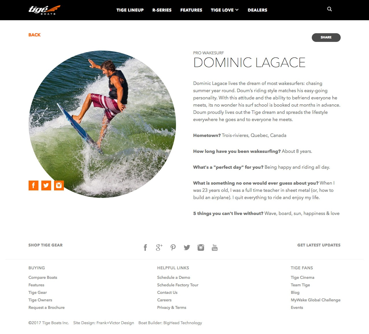 Featured Website Page Design